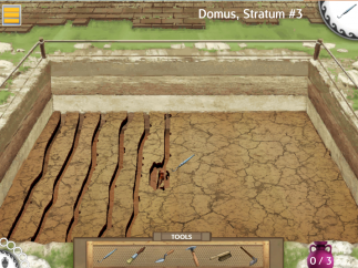 Carefully move dirt away from fragile artifacts to uncover several on each stratum.