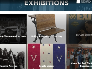 The site provides detailed descriptions of the museum's exhibitions.
