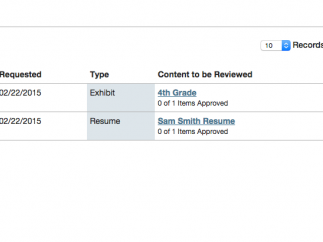 Teachers can add comments and approve content for publication.