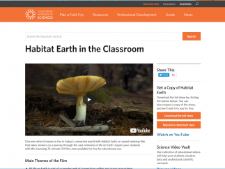 The video vault contains topics that will be of interest to science students.