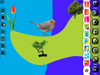 The app can also be used to make scenes and other types of collages.