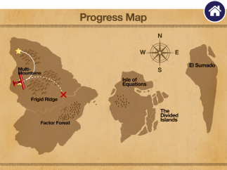 Progress is tracked over time on a map.