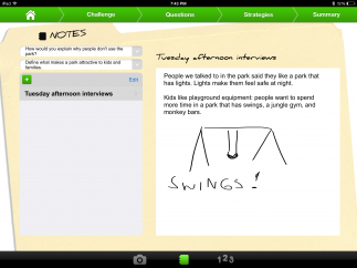 In-app drawing tool allows kids to include drawings or photos and videos from the device's camera roll.