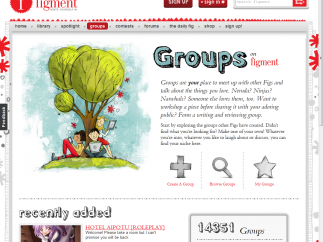 Joining a Figment group is easy, and there are hundreds to choose from.