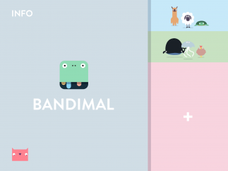 Bandimal saves your musical creations so that you can listen to them again or continue to experiment with them.