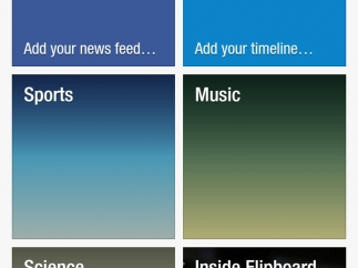 It's possible to add a Facebook news feed and Twitter timeline alongside other news.