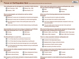 Kids can take quizzes to assess their learning.