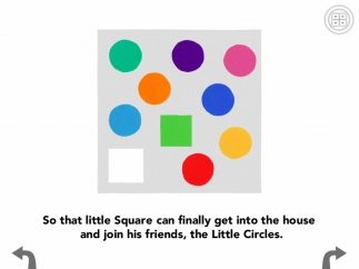 The square now fits through the door, and everyone plays happily together.