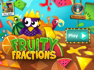 Fruity Fractions teaches kids about part-whole relationships.