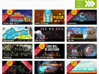Provides examples of online games students can explore and draw inspiration from.
