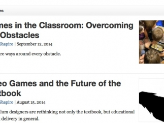 Articles about the effective use of games in the classroom are thought provoking.