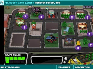 Explore integers by picking up students to fill the school bus and dropping them off at school.