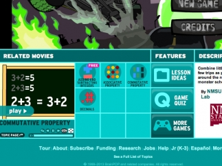 Videos explain the major concepts explored in Monster School Bus; subscribers can see related lesson ideas and quizzes.
