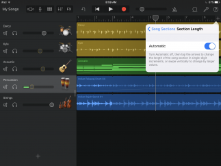 Switch a track to Automatic to record up to 350 bars without stopping.
