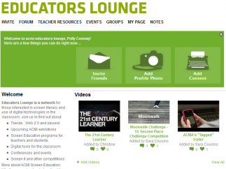 The Educators Lounge offers teacher resources, including a forum, lesson plans, and groups.