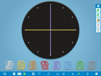 A circular board is useful for exploring fractions and angles.