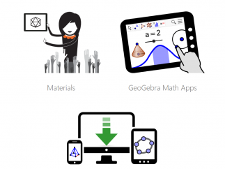 The GeoGebra site includes a wealth of user creations and various math tools, including a graphing calculator.