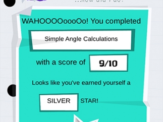 Earn stars for completing quizzes.