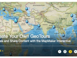Use the site's interactive tools to create your own Geotours.