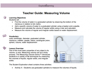 The teacher guides lay out learning objectives, lesson sequences, and  scientific background information.