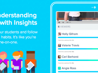The Insights report tracks student's viewing progress.