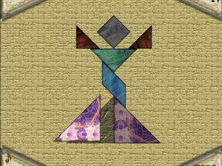 """""""Tangram32"""" allows kids to rotate and place the classic shape set over various backgrounds."""
