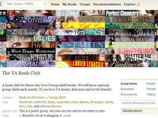 One of the many Goodreads groups teens can join.
