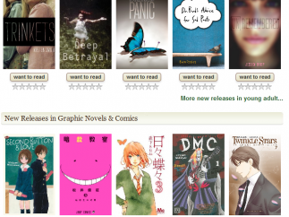 The home page offers new releases in chosen genres.