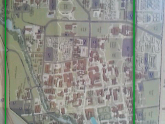 Even with a fuzzy shot of a map, the search returns a matching result from the Web.