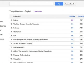 Students can view metrics that rank academic publications by popularity.