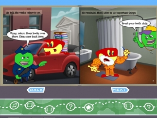 A comic e-book helps kids review the topic.