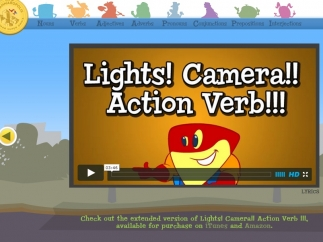 Action verbs and linking verbs are explained through the cute music video.