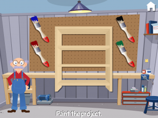 Choose which color to paint Grandpa's finished project.