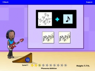 Activities include replacing sounds and blending sounds.