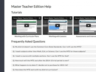 The tutorials and FAQ page help users navigate the site.