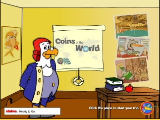 Travel the world to learn about currency, language, culture, geography, more.