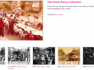 This curated collection of photos features street parties.