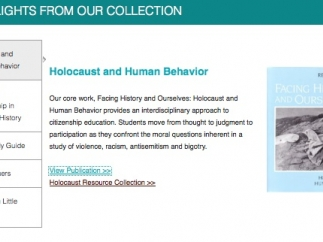 One highlight is an in-depth interdisciplinary examination of the Holocaust.