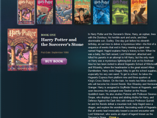 Links to buy books aren't too distracting, and the excerpts are generous.