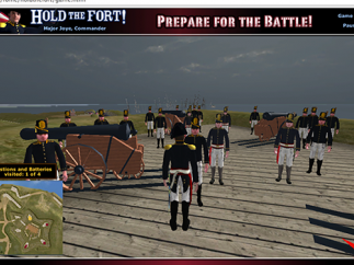 To keep troops happy, visit all corners of the fort.