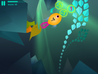 Watch out for the Mad Fish in the Caves Games!