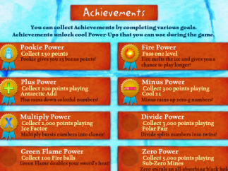 Achievements menu shows icons and ribbons earned; text and grayed-out ribbon for those to be earned.