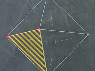 Kids can experiment with creating cross-sections of polyhedrons.