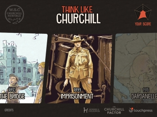 Think Like Churchill lets users go inside key events in Winston Churchill's life.