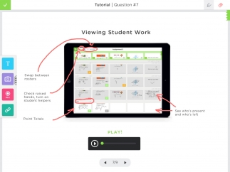 View student work, see who needs help, and give feedback.