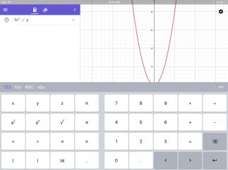 A variety of keyboards allow students to graph equations.