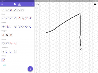 A shape recognition tool lets you draw shapes freely.