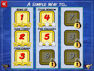 Solve each puzzle to unlock the next one. There are 18 puzzles in all.