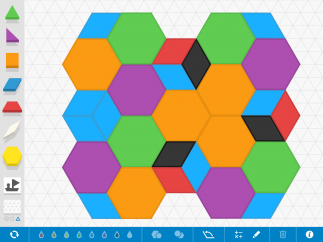 Change the traditional pattern-block colors for extra fun.