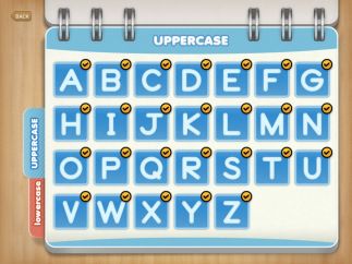Upper- and lowercase manuscript letters for practice.